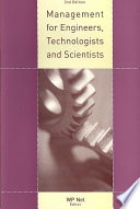 Management for Engineers  Technologists and Scientists