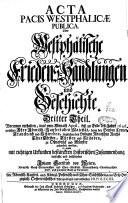 Acta pacis executionis publica oder nürnbergische Friedens-Executions Handlungen und Geschichte