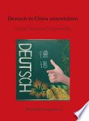 Deutsch In China Unterrichten