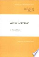 Wintu Grammar