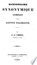 Dictionnaire synonymique complet de la langue fran  aise