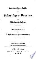 Archiv des Historischen Vereins fur Niedersachsen