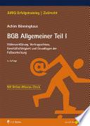 B Nninghaus Bgb Allgemeiner Teil I