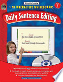 Interactive Learning  Daily Sentence Editing  Grade 1