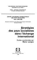 Stratégies des pays socialistes dans l'échange international