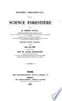 Principes fondamentaux de la science forestière