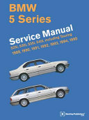 Bmw 5 Series E34 Service Manual 1989 1990 1991 1992 1993 1994 1995