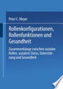 Rollenkonfigurationen Rollenfunktionen Und Gesundheit