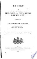 Report of the Capital Punishment Commission