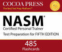 NASM Certified Personal Trainer Flashcards  FIFTH EDITION  by Cocoa Press