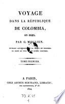 Voyage dans la République de Colombia, en 1823