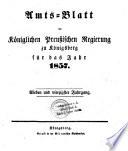 Amtsblatt der Preussischen Regierung zu Königsberg