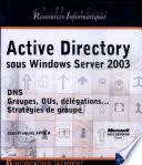 Active Directory Sous Windows Server 2003