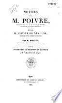 Notices sur M. Poivre intendant des îles de France et de Bourbon... et sur Dupont de Nemours