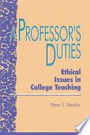 A Professor s Duties