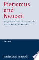 Pietismus und Neuzeit Band 39 – 2013