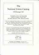 National Union Catalog