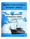The Post Office Electrical Engineers' Journal