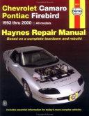Chevrolet Camaro Pontiac Firebird Automotive Repair Manual