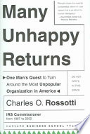 Many Unhappy Returns : service in 1997, the agency had the...
