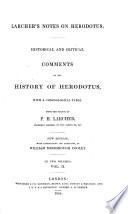 Larcher s Notes on Herodotus