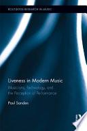 Liveness In Modern Music