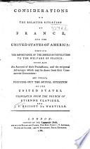 Considerations on the relative situation of France and the United States of America
