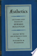 sthetics  Lectures and Essays