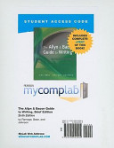 The Allyn Bacon Guide To Writing Mycomplab New With Pearson Etext Student Access Code Card