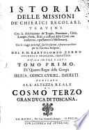 Istoria delle missioni de Chierici relogari Teatini
