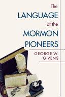 Language of the Mormon Pioneers
