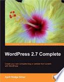 WordPress 2 7 Complete