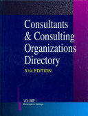 Consultants Consulting Organizations Directory book