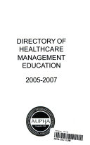 Health Services Administration Directory of Programs 2005 07