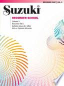 Suzuki Recorder School  Recorder Part