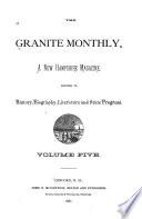 Granite State Monthly Book PDF