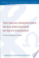 download ebook the social significance of reconciliation in paul's theology pdf epub