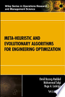 Meta heuristic and Evolutionary Algorithms for Engineering Optimization