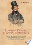 Sammler, Kenner, Kunstschriftsteller