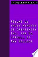 R  sum   de 3 minutes du livre choisi par Zuckerberg    Creativity Inc     par Ed Catmull et Amy Wallace