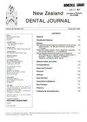 New Zealand Dental Journal book