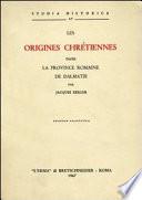 illustration Les origines chrétiennes dans la province romaine de Dalmatie