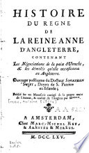 Histoire du règne de la reine Anne d'Angleterre ...