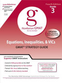 Equations  Inequalities  and VIC s  GMAT Preparation Guide  4th Edition