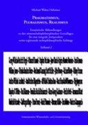 Pragmatismus, Pluralismus, Realismus