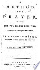 A Method for Prayer     Seventh edition