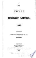 The Oxford University calendar 1832