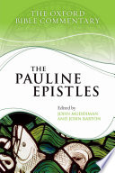 The Pauline Epistles Reference Work For 21st Century Students And