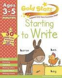 Gold Stars Starting to Write Preschool Workbook