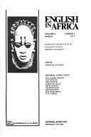 English in Africa Book PDF